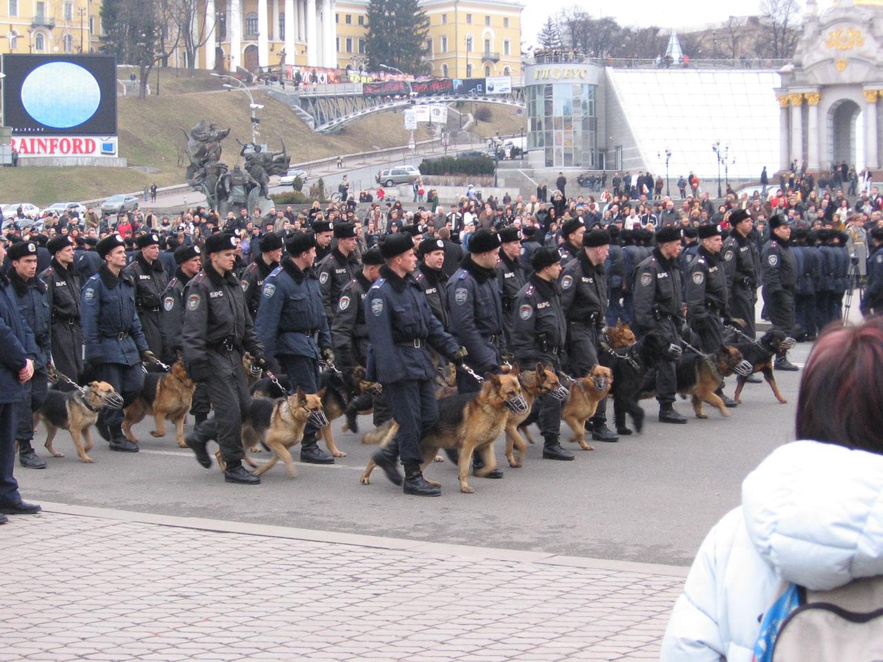 Спецпідрозділ на Майдані