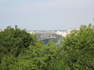 Вид Києва, лівий берег