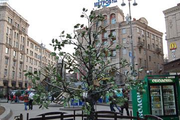 Дерево зі стільцями