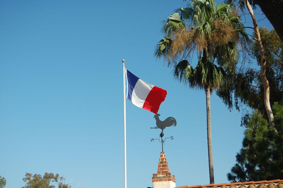 Французький прапор та півень