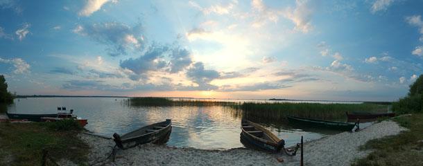 Панорама заходу сонця