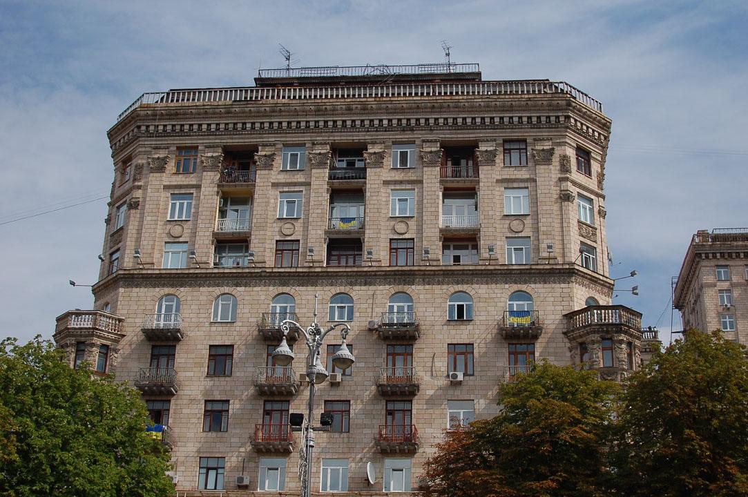 Прапори на балконах