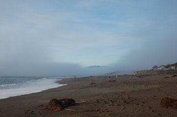 Туман над океаном