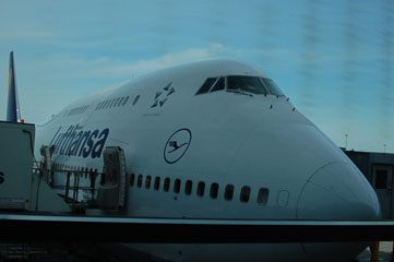Літак авіакомпанії Lufthansa