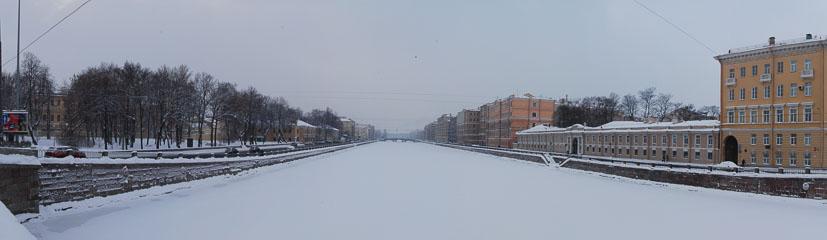 Панорама річки Фонтанки