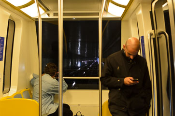 В потязі між терміналами