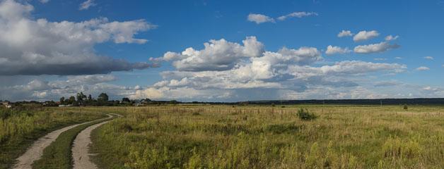 Панорама поля