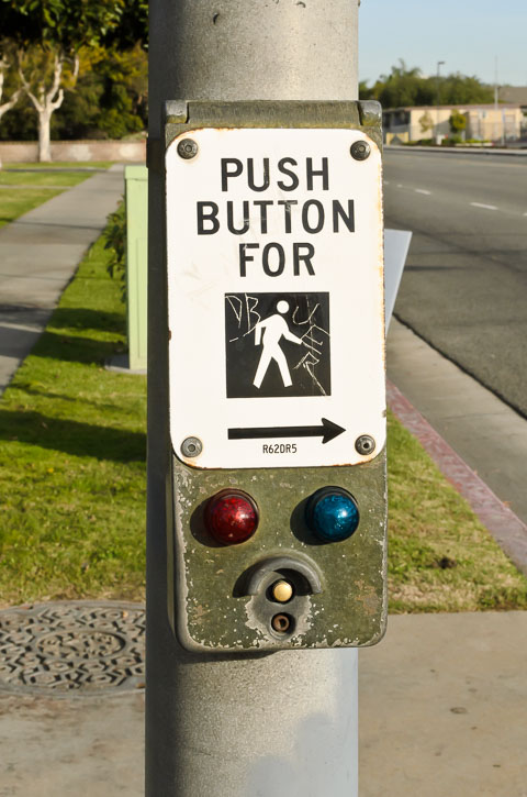 Кнопка для переходу вулиці
