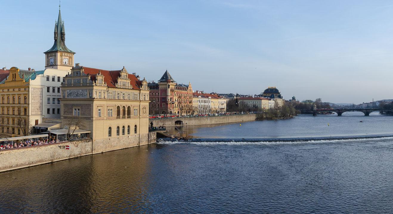 Панорама берегу Влтави