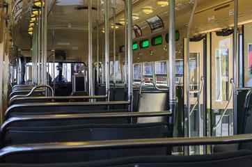 Всередині трамваю